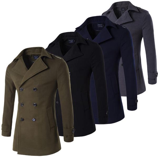 Grün Schwarz Grau Armee Navy Coat Männlich Großhandel Pea cKFJTl13