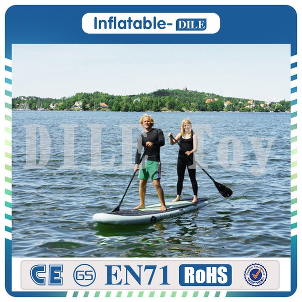 Free Shipping 305x76x15cm Inflatable Stand Up Surfboard Surfing Board Water Sport Sup Board with Paddle Pump