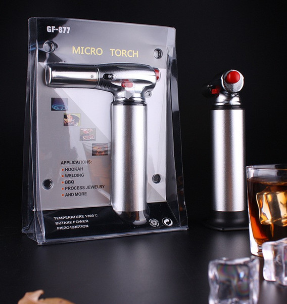 1300C Butane Scorch torch jet flame lighter kitchen torch Giant Heavy Duty Butane Refillable Micro Culinary Torch Self-igniting