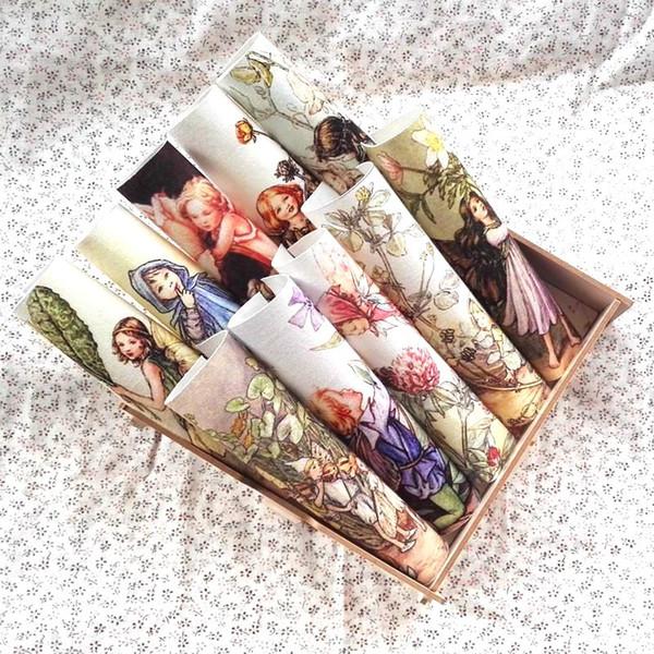 ragazze carine tinti a mano in tessuto fai da te cucito a mano tessili per la casa cartone animato stoffa di cotone decora quiltting patchwork flower fairy