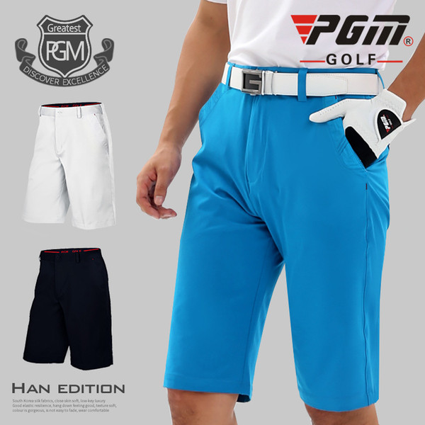 PGM Men Golf Shorts Solid Elastic Sports Shorts Breathable Summer Men Golf Sports Clothing Professional For Male