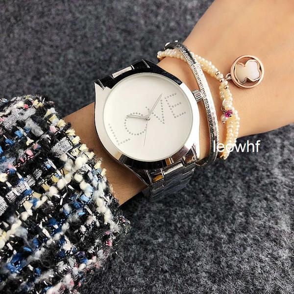 TOP Fashion Casual michael Men Watches LOVE Luxury diamond Women Quartz Watch bracelet korrs steel Gold Wrist watches dw Dropshipping