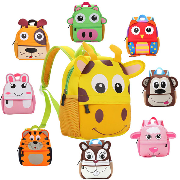 Animal Zoo Soft Mini Schoolbag for Kindergarten Girls and Boys Cartoon Backpack Children School Bag Toys Bag Infantes