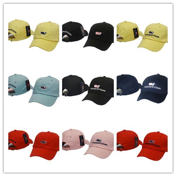 Top Sale vineyard vines Casual Men Women Curved Snapback Baseball Cap  Hunting Caps Snap back Plain Golf hats Casquette Solid Peaked Caps 872a0b978b38