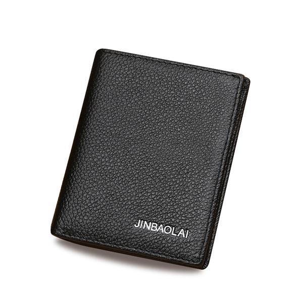 New Fashion Casual Führerschein Herren Leder Brieftasche 2 Farbe Designs Visitenkartenhalter Pocket Wallets Multifunktions Mini Brieftaschen