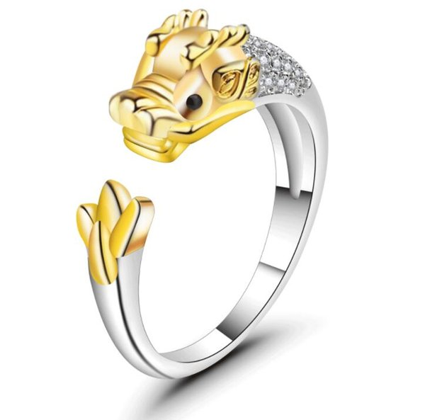 12 zodiac s925 sterling silver opening Women ring jewelry with the birth year ring
