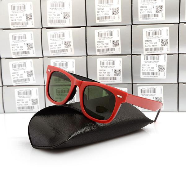 Red black Frame Green Lens 50mm