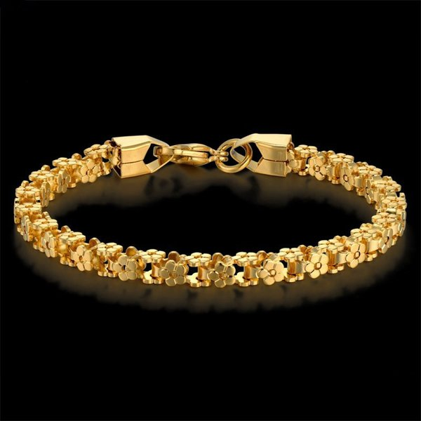 Gold Bracelet Trendy Stainless Steel Bicycle Chain Bracelets for Women Femme Gold Color Vintage Link Jewelry 7-8' pulseras