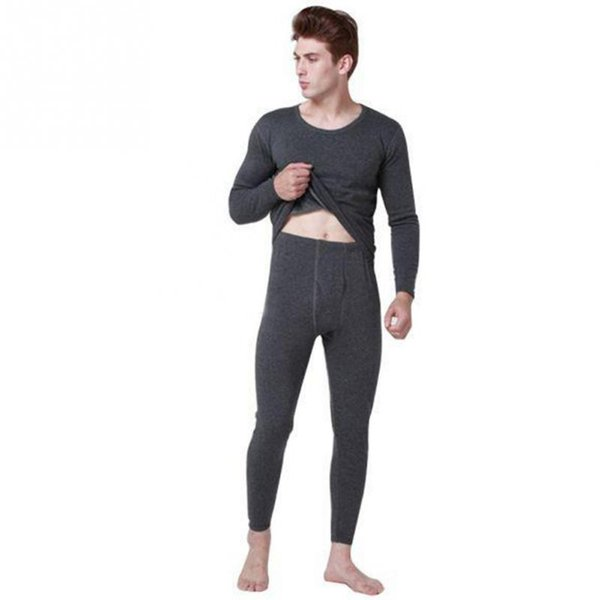 d4c121fa84e2 Hot Winter Mens Warm Thermal Underwear Mens Long Johns Sexy Black Thermal  Underwear Sets Thick Plus