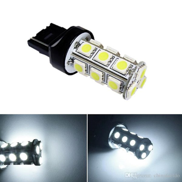 Venta al por mayor Auto White T20 7440 5050 18smd Señal de giro del automóvil Copia de seguridad 18LED Stop LED light Headlight DC12V # 1032