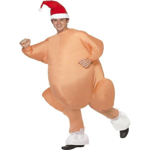 2018 Hallowmas customes Inflatable Roast Turkey clothes Thanksgiving Day Christmas Holloween Cosplay Party Costumes Turkey Shape pants sale