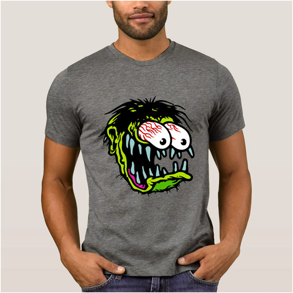 New Fashion Summer T-Shirts Men Boy Rat Fink Clothing Short-sleeved