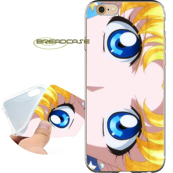 Coque Sailor Moon Cases for iPhone 10 X 7 8 6S 6 Plus 5S 5 SE 5C 4S 4 iPod Touch 6 5 Clear Soft TPU Silicone Cover.