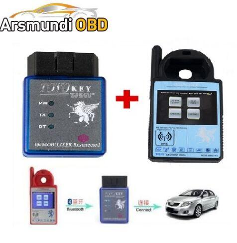 Best Mini ND900 Transponder Key Programmer Plus Toyo Key OBD II Pro Support 4C 4D 46 G H C Chips 2.Support All Key Lost