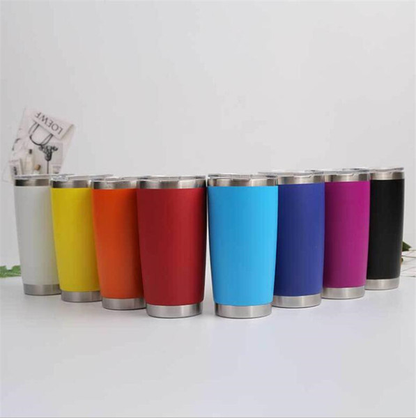 600ml new arrived sliver metal insulated travel mug water bottle beer coffee mugs with lid for car cups coffee cup drinkware dhl
