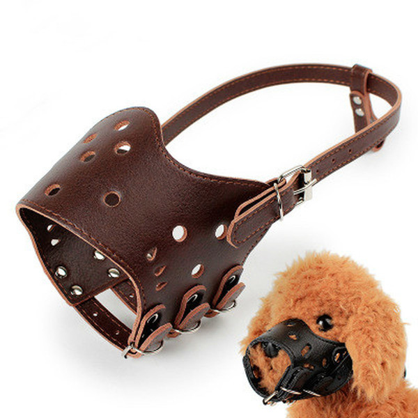 Adjustable Pet dog mouth sets Dog Muzzle Basket Anti-bite Dogs Barking Stop Mouth Cover Black collar Dog Mask Safety Accessories