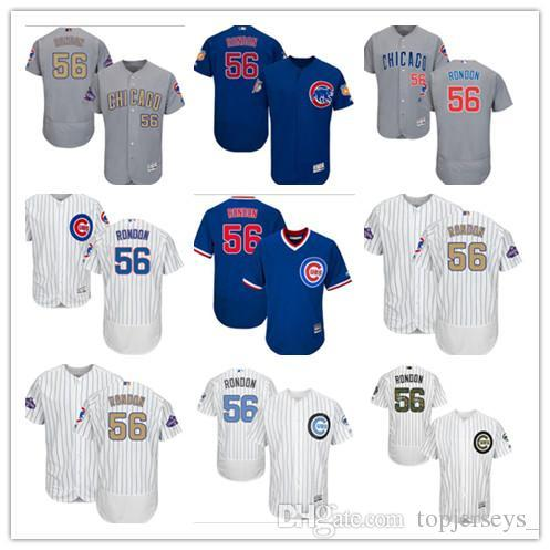 8cdc5ea7787 custom Men women youth Majestic Chicago Cubs Jersey  56 Hector Rondon Home  Blue Grey White