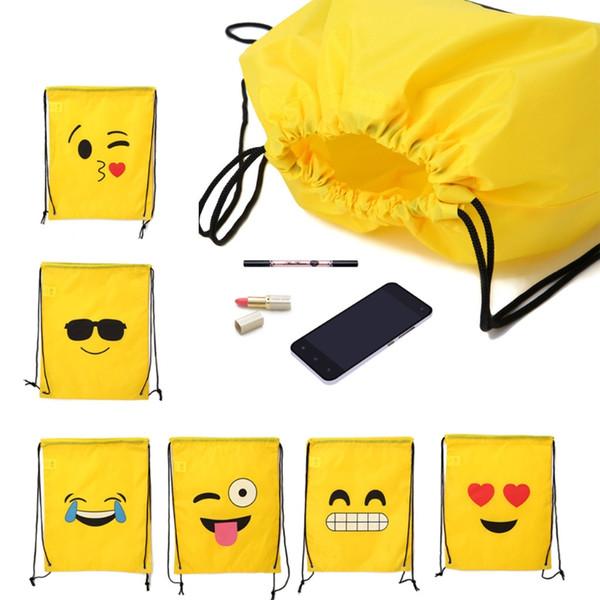 Emoji İpli Sırt Çantası Çanta 12 Paket Şirin Çeşitli İfade Parti Şekerleri