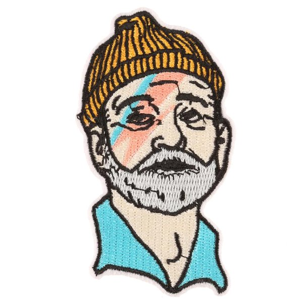 top popular Embroidered Bill Murray Portrait Patches BOWIE Sew Iron On Applique POP Art Badge Clothes Patch Stickers For Jackets Jeans Garment 2019