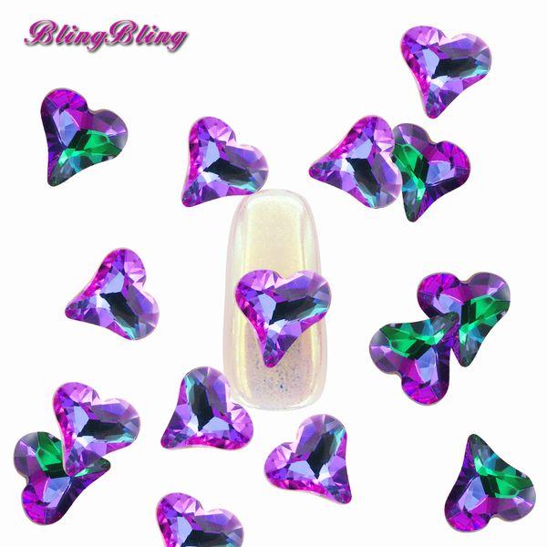 5PCS Crystal Rhinestone Rainbow Color Stones Strass Gem Jewelry Nail Art Decoration Diamonds Design Glass Rhinestones for Nails