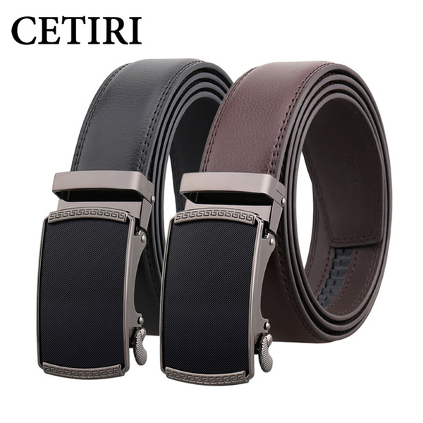 CETIRI male leather belt men male genuine leather strap luxury automatic buckle belts for men belt cummerbunds ceinture homme