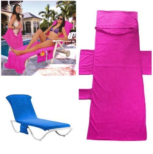 215x75cm 5 Colors Beach Chair Cover Lounger Mate Beach Towel Microfiber Blanket Fabric Print Cotton Towel Beach Towels Swimwear