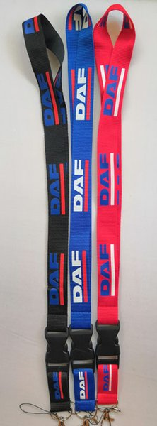 Free shipping DAF truck logo Lanyard Neck Cell Phone Key Chain Strap and phone lanyard Quick Release