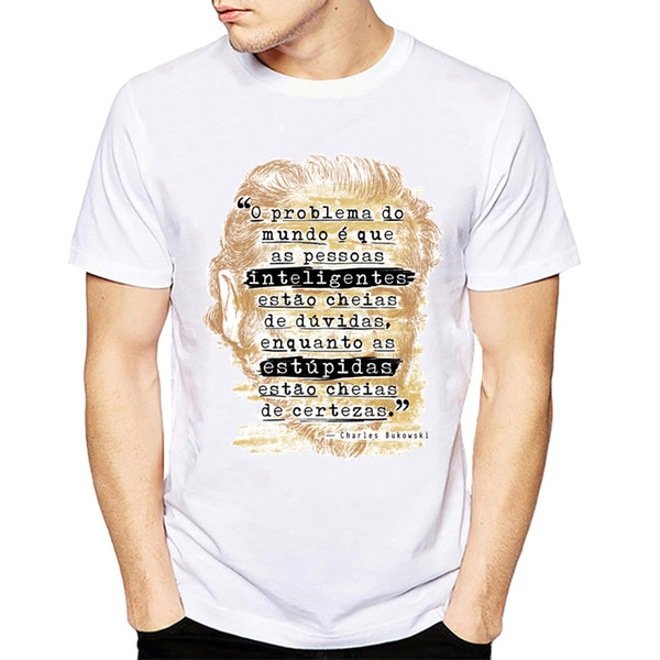 The Charles Bukowski T-shirt Short Sleeve O - Neck Harajuku Vintage Book Literary Poet Literature Cool Tshirt