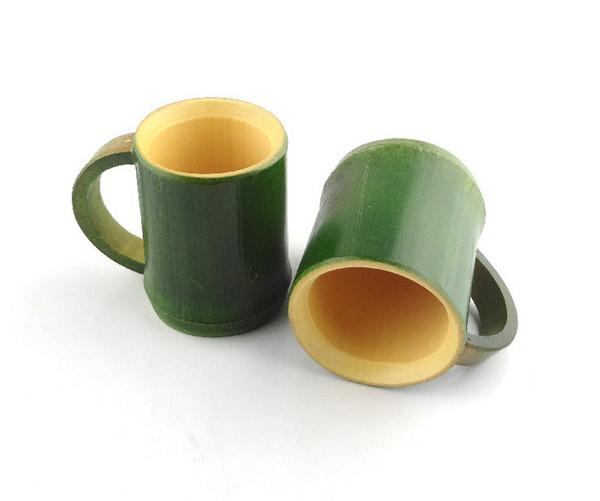 Verde dise/ño de bamb/ú chino taza