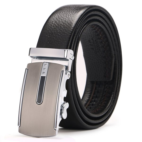 Men's business brand leather belt double-sided layer leather with high-end business casual automatic