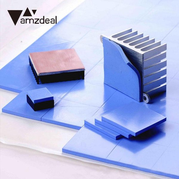 AMZDEAL Durable CPU Heatsink Two Color Thermal Pad Silicone Conductive Heatsink Cooling Cooler GPU CPU Pad Fin