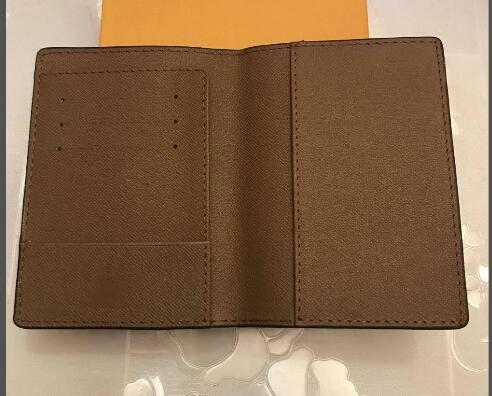 Luxus Designer PASSPORT COVER Braun Mono Gram Canvas Leder Weiß Schwarz Kariert Eip Leder Kostenloser Versand Brieftaschen Halter