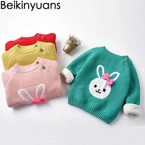 Suéter de niña terciopelo de invierno engrosamiento edición de han niño infantil bebé de cuello alto de punto sin forro prenda suéter superior