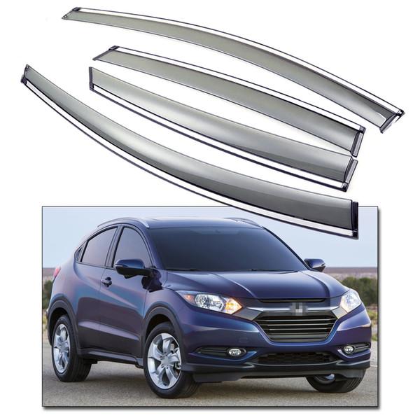 New Car Front & Rear Window Visor Deflectors Vent Shade fit for Honda HR-V 2015 2016 Up