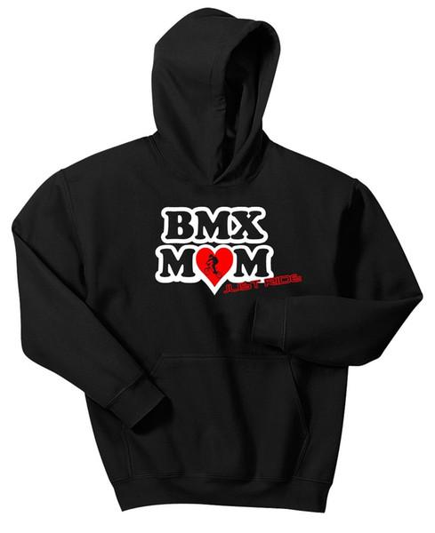 Bmx Mamma Felpa con Cappuccio Just Ride Maglione Bici Bicicletta Race Gt Haro