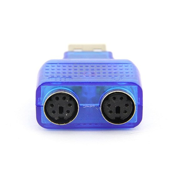 USB Male to 2 PS2 Female Active Adapter T-splitter New #DY164