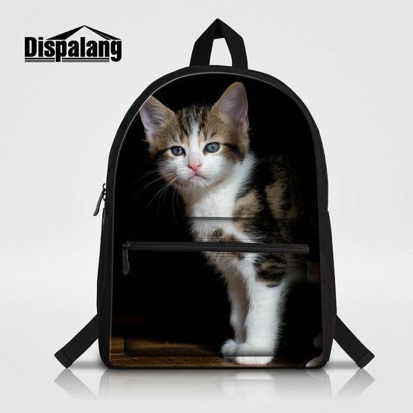 Canvas School Bag For Women Animal Cat Printing Ladies Travel Shoulder Bags Bagpack Mochila Girl Knapsack Laptop Backpack For Teenagers Pack