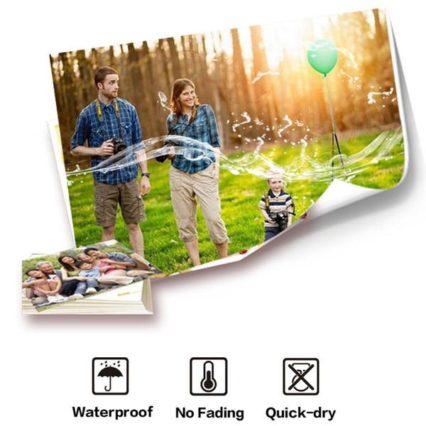 """Printer Photo Paper 3R 4R(4""""x6"""") 5R A5 Photographic Paper for Inkjet Printer 4R Glossy Printing Paper Office Supplies 20 sheets"""