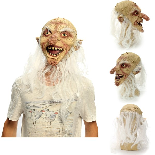 Scary Latex Bald Old Man Halloween Mask Big Nose Fancy Dress Costume Party Prop Natural Latex Perfect for Creating Horror Effect
