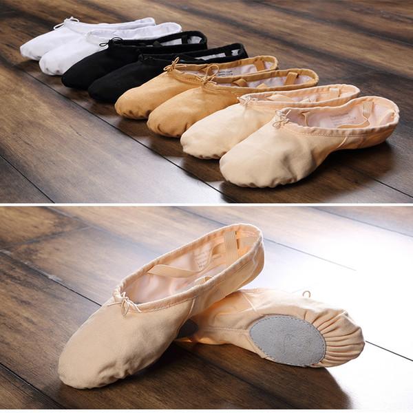 Pink Sneakers Ballet Split Sole Girls Canvas Ballet Practice Dance Shoes Ballerina Children Dance Gym Slipper Adult Shoes