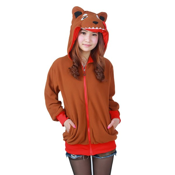 Wolf Zipper Hoodie Sweatshirt Cosplay Animal Jacket Unisex Costumes