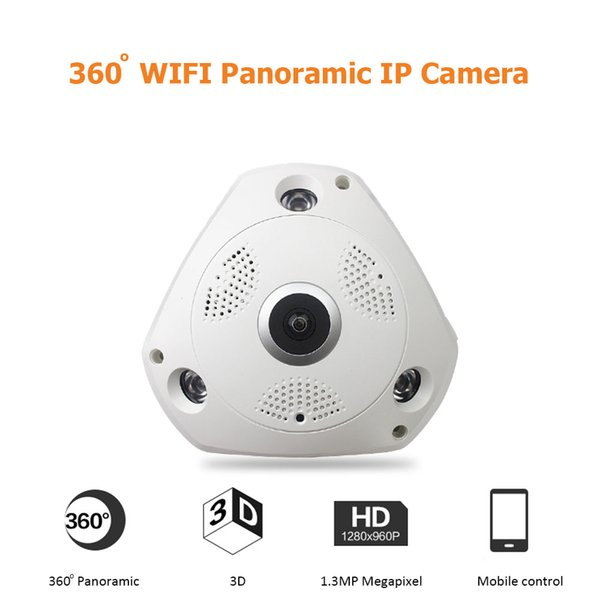 JIVISION Wireless CCTV 360 Degree Panoramic Camera HD 960P WIFI IP Camera Home Security Surveillance System ONVIF Fisheye
