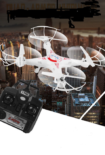 top popular Remote Drone Quadcopter 2.4G Six-axis Gyroscope Anti-drop Remote Control Aircraft Model With LED Luminous DHL free shipping 2020