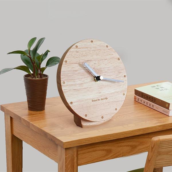 Acheter Horloge En Bois Massif Salon Moderne Pendule Minimaliste Bureau Bureau Horloge Silencieux Nordique Créatif Chambre Assise De 53 47 Du Copy02