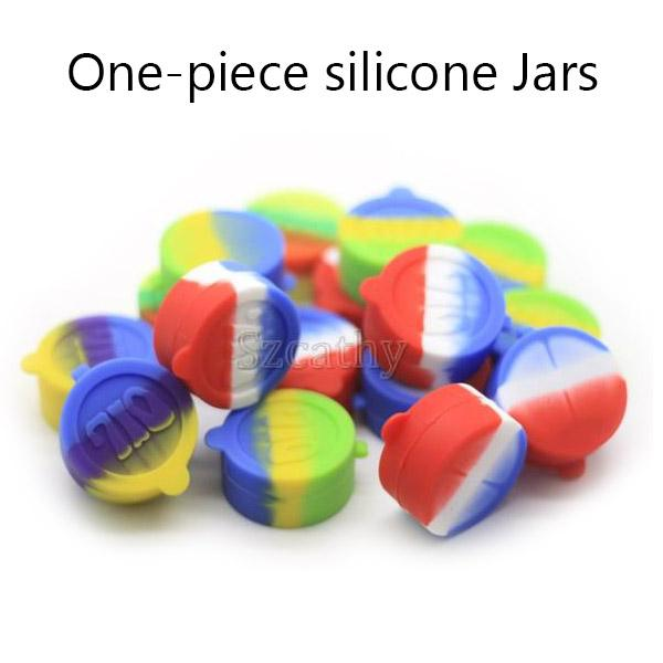 Silicone Dab Containers Diameter=42mm 10ml Silicone Jars One-piece Silicone Wax Oil Container Good Partner for Wax Vape Pen Kits Vaporizer