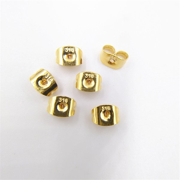 top popular 100pcs lot Stainless Steel Earrings Back Earring Stopper for DIY Jewelry Accessories silver gold color crafts 2019