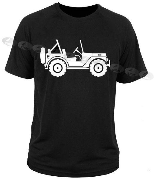 T-Shirt T-Shirt WRANGLER willys rubicon offroad armee Lustige kostenloser Versand Unisex Casual T-Shirt
