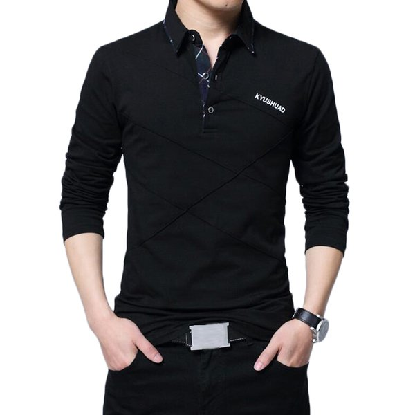 Men Shirt Brand New Spring Autumn s Men's Casual Fashion Cotton Solid Color Turn Down Long Sleeve Shirts Clothing