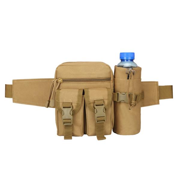 Randonnée en plein air voyages sportifs exécutant la bouilloire en nylon 800D étanche petit sac de taille en dehors du sac à dos tactique