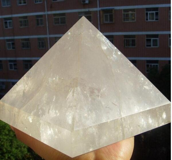 2451g Natural Quartz Crystal Pyramid Healing China